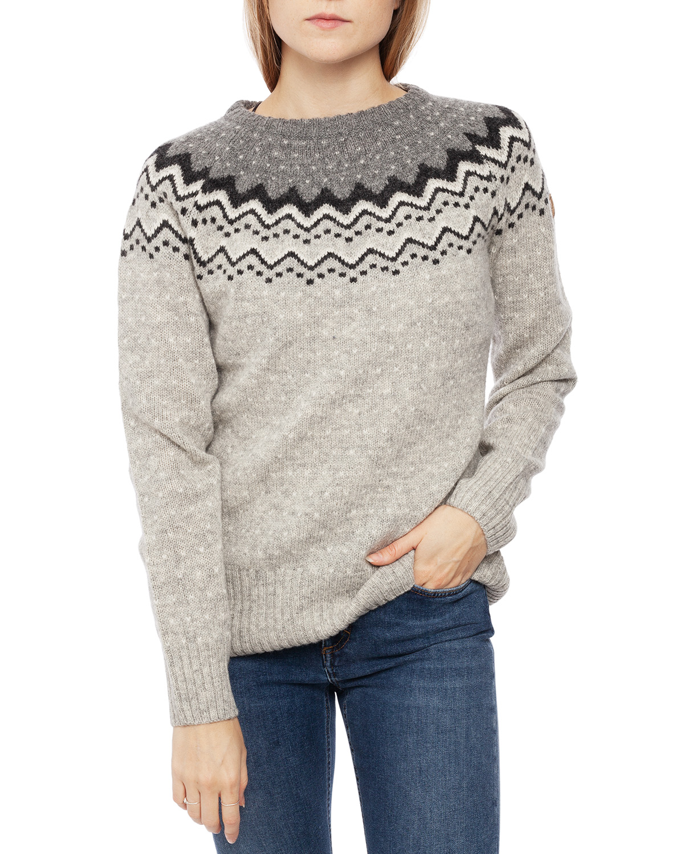 Övik Knit Sweater W Grey
