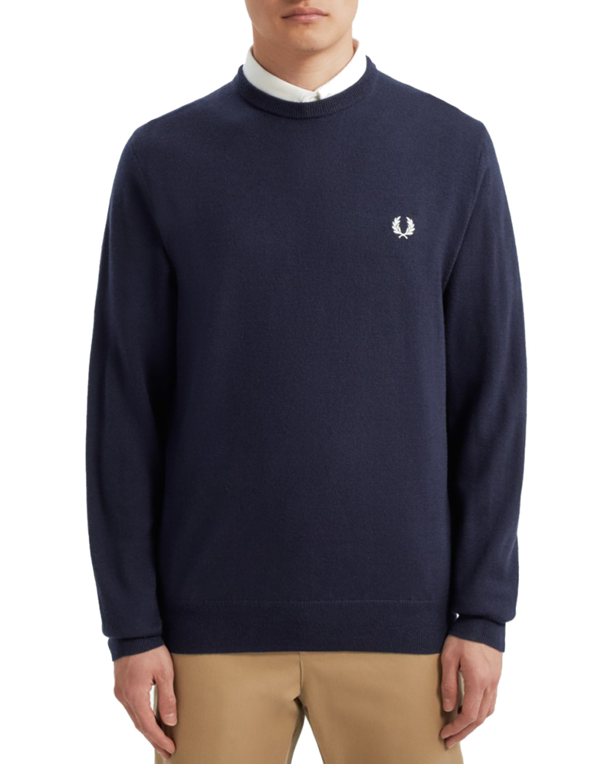 Fred Perry Merino Wool Classic Crew Neck Jumper