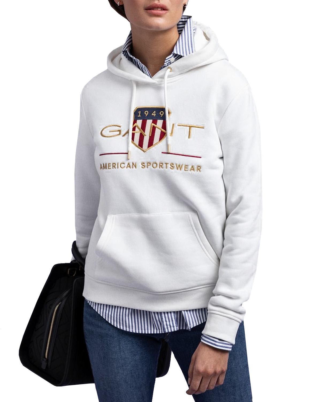 Gant Shield Sweat Hoodie Eggshell Hoods | Märkeskläder på