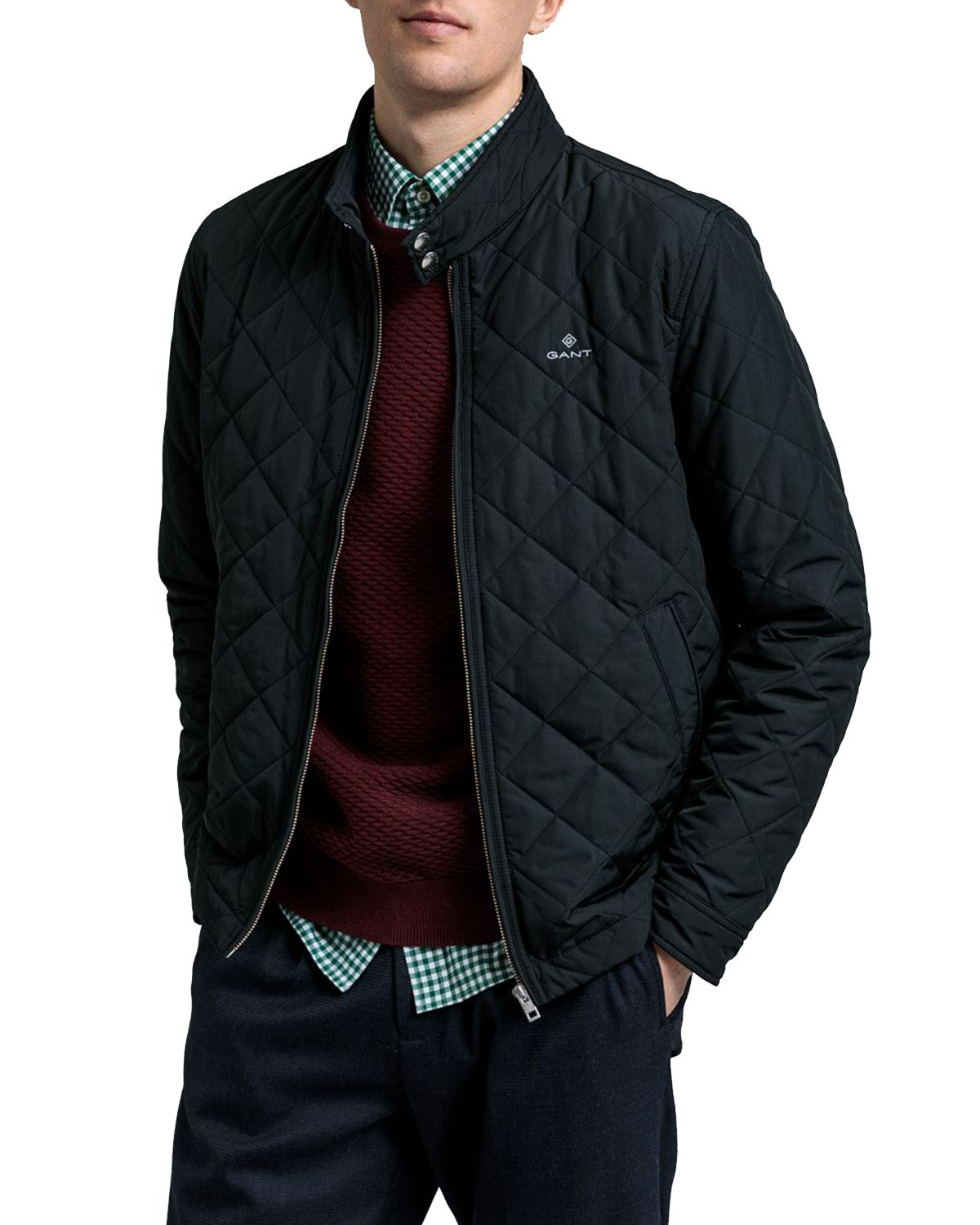 Quilted Windcheater Black