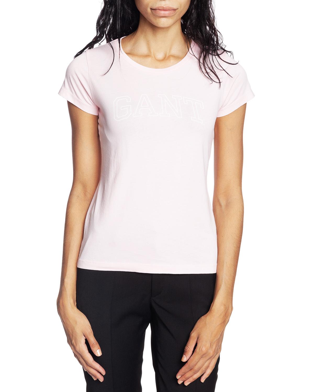 O1. Arch Logo Capsleeve T Shirt California Pink