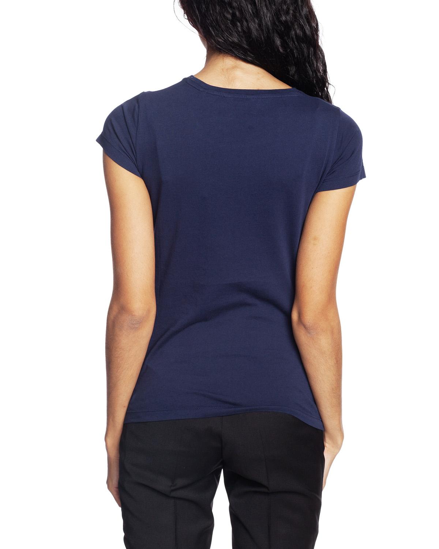 O1. Arch Logo Capsleeve T Shirt Evening Blue