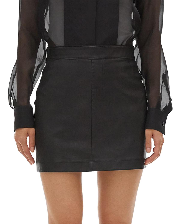 Helmut Lang Compact Wool Skirt Black Kjolar | Märkeskläder