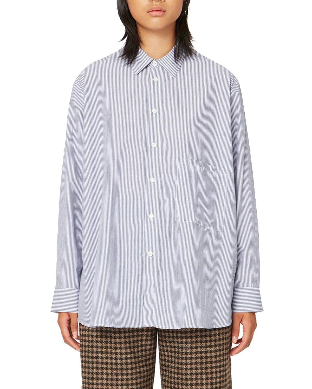 Elma Shirt Navy Stripe