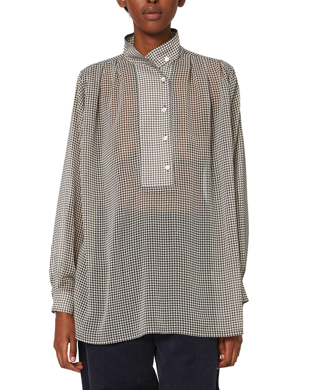 Pearl Shirt Beige Dogtooth