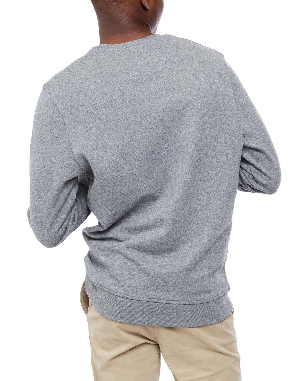 Crew Neck Sweatshirt Mid Grey Marl