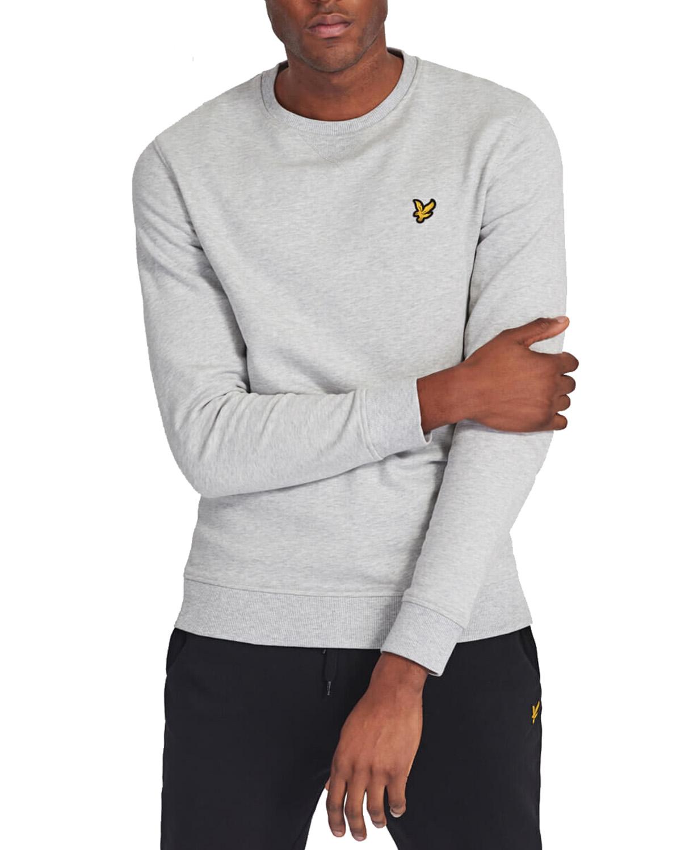 Crew Neck Sweatshirt Light Grey Marl
