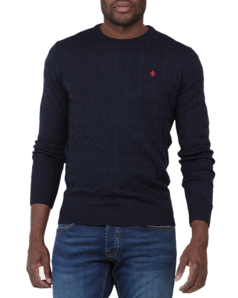 Merino Cable Oneck 60 Navy