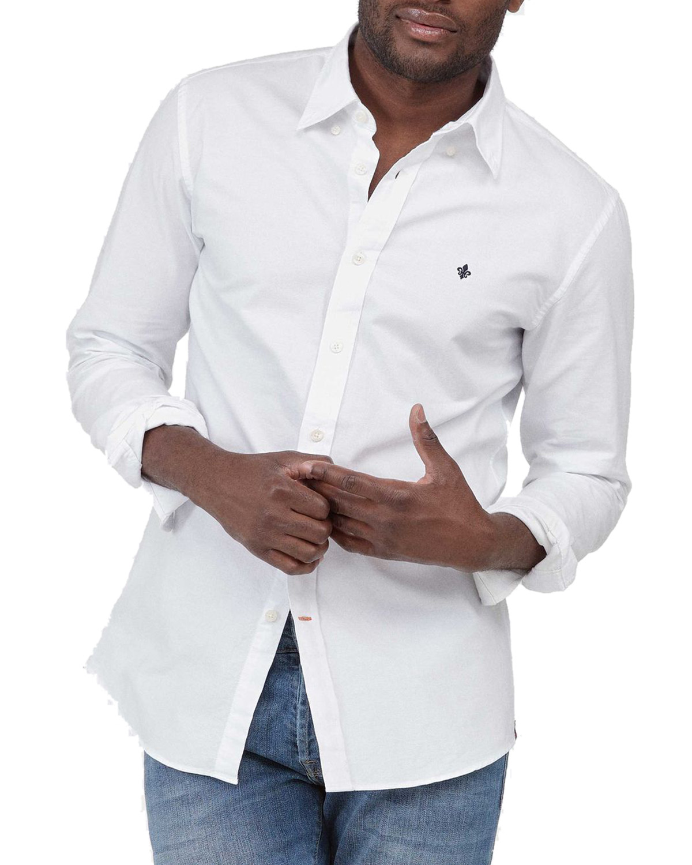 Morris Oxford button down white shirt Oxfordskjorter På