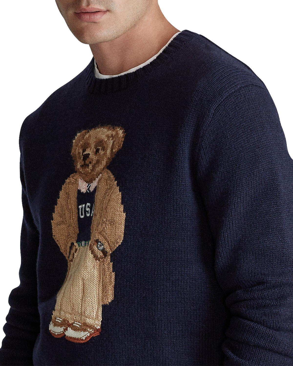 Collegiate Bear Jumper Navy App Bear