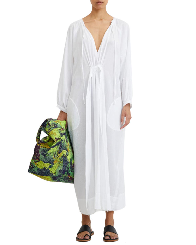 Rodebjer Art Shirt Dress White Kjoler & skjort På Zoovillage